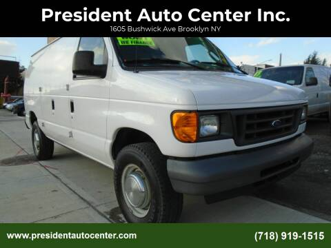 2006 Ford E-Series Cargo for sale at President Auto Center Inc. in Brooklyn NY