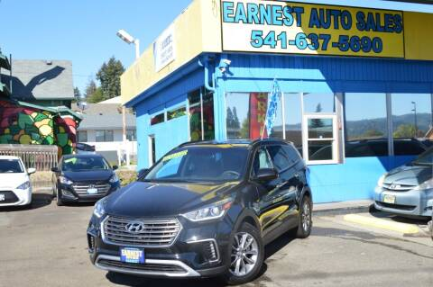 2017 Hyundai Santa Fe for sale at Earnest Auto Sales in Roseburg OR