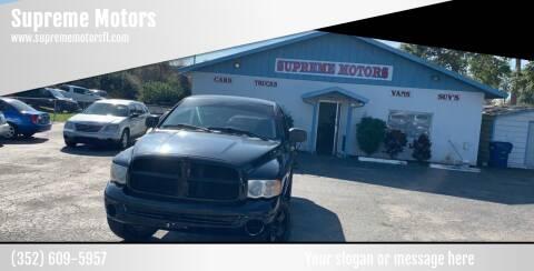 2005 Dodge Ram Pickup 1500 for sale at Supreme Motors in Tavares FL