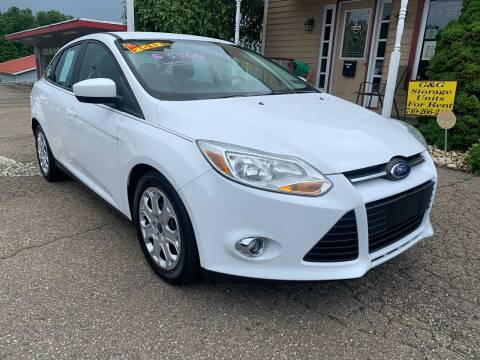 2012 Ford Focus for sale at G & G Auto Sales in Steubenville OH