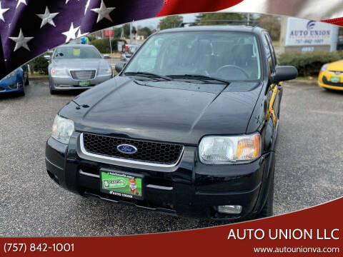 2004 Ford Escape for sale at Auto Union LLC in Virginia Beach VA