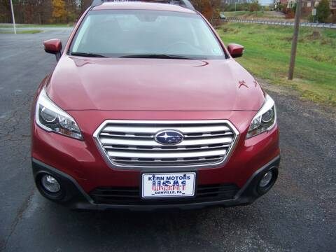 2017 Subaru Outback for sale at KERN MOTORS in Danville PA