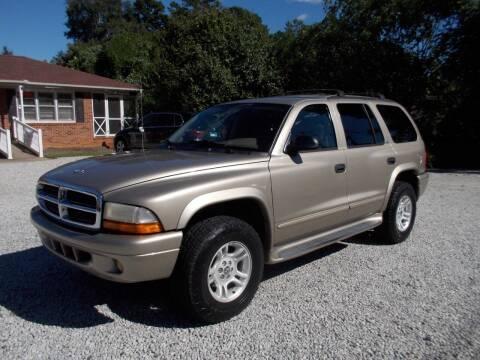 2002 Dodge Durango for sale at Carolina Auto Connection & Motorsports in Spartanburg SC