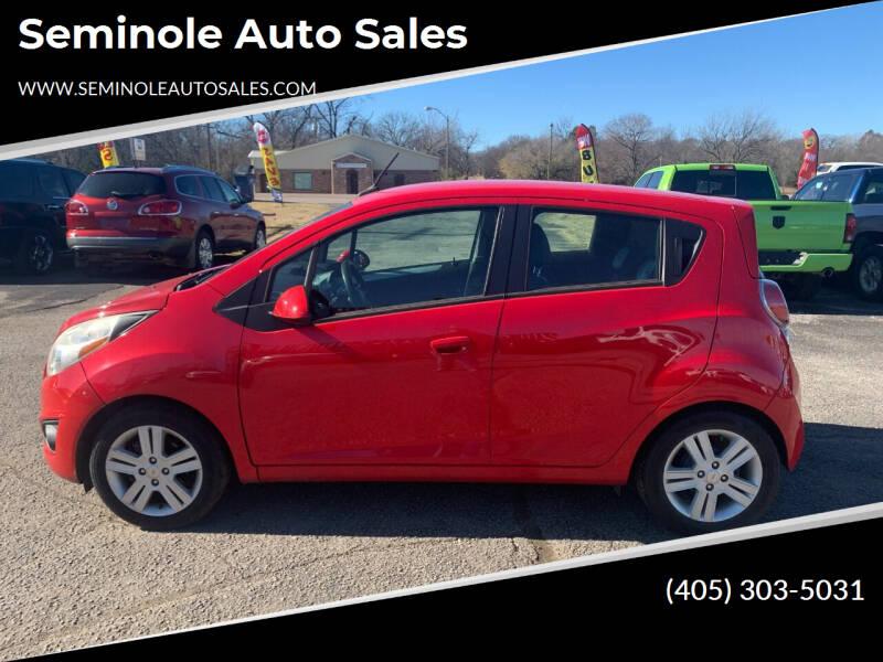 2013 Chevrolet Spark for sale at Seminole Auto Sales in Seminole OK