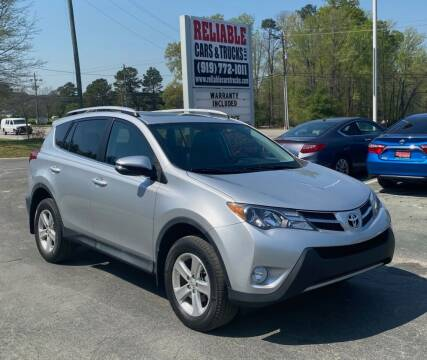 2013 Toyota RAV4 for sale at Reliable Cars & Trucks LLC in Raleigh NC