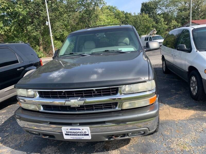 2002 Chevrolet Tahoe for sale at SPRINGFIELD PRE-OWNED in Springfield IL