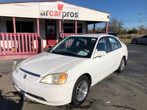 2002 Honda Civic for sale at Arkansas Car Pros in Cabot AR