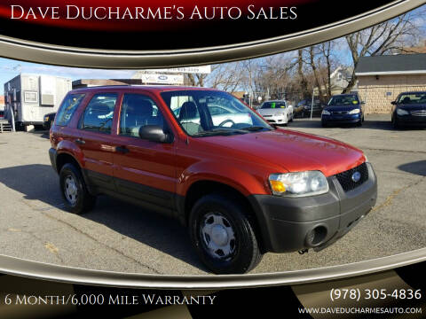 2007 Ford Escape for sale at Dave Ducharme's Auto Sales in Lowell MA