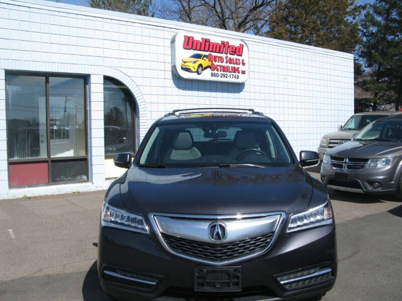 2014 Acura MDX for sale at Unlimited Auto Sales & Detailing, LLC in Windsor Locks CT