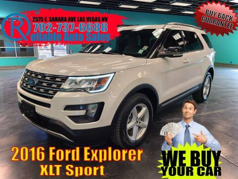 2016 Ford Explorer for sale at Reliable Auto Sales in Las Vegas NV