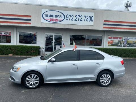 2012 Volkswagen Jetta for sale at Traditional Autos in Dallas TX