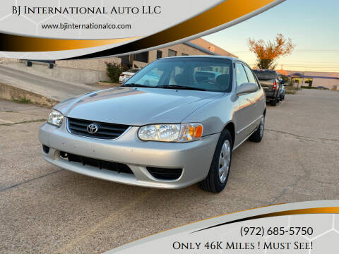 2001 Toyota Corolla for sale at BJ International Auto LLC in Dallas TX