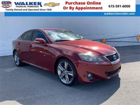 2011 Lexus IS 250 for sale at WALKER CHEVROLET in Franklin TN
