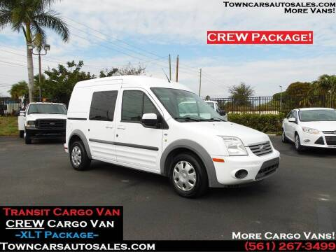 2013 Ford Transit Connect Wagon for sale at Town Cars Auto Sales in West Palm Beach FL