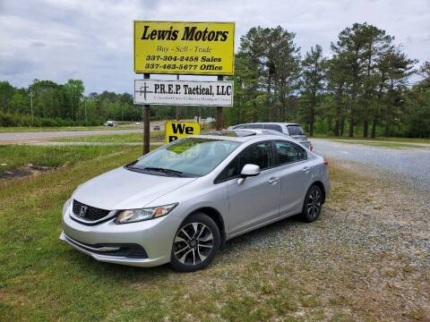 2013 Honda Civic for sale at Lewis Motors LLC in Deridder LA