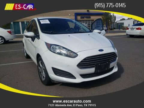 2015 Ford Fiesta for sale at Escar Auto in El Paso TX