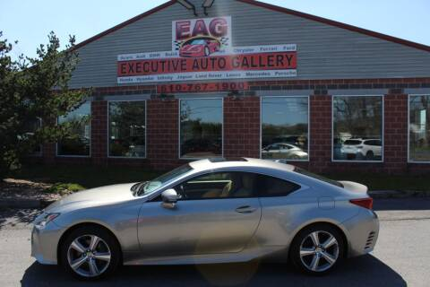 2015 Lexus RC 350 for sale at EXECUTIVE AUTO GALLERY INC in Walnutport PA