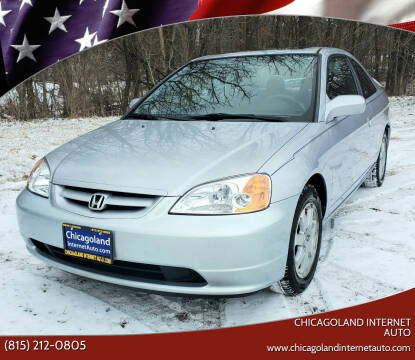 2003 Honda Civic for sale at Chicagoland Internet Auto - 410 N Vine St New Lenox IL, 60451 in New Lenox IL