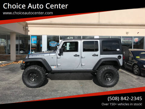 2016 Jeep Wrangler Unlimited for sale at Choice Auto Center in Shrewsbury MA
