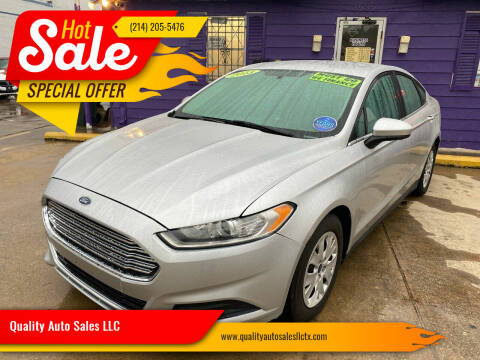 2013 Ford Fusion for sale at Quality Auto Sales LLC in Garland TX