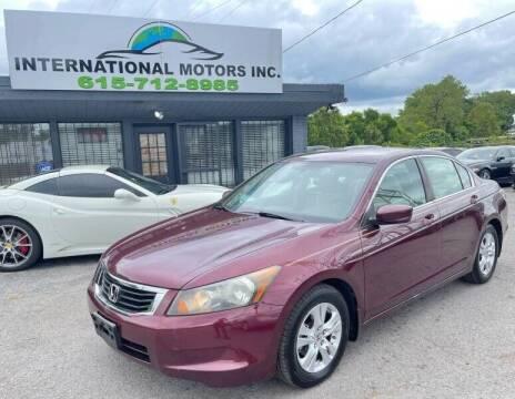 2009 Honda Accord for sale at International Motors & Service INC in Nashville TN