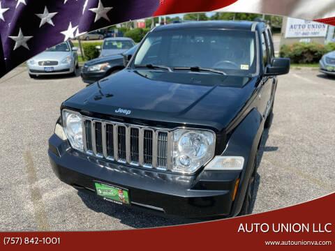2011 Jeep Liberty for sale at Auto Union LLC in Virginia Beach VA