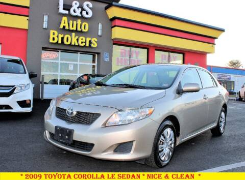 2009 Toyota Corolla for sale at L & S AUTO BROKERS in Fredericksburg VA