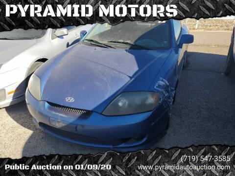 2005 Hyundai Tiburon for sale at PYRAMID MOTORS - Pueblo Lot in Pueblo CO