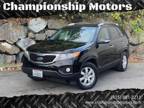 2013 Kia Sorento for sale at Championship Motors in Redmond WA