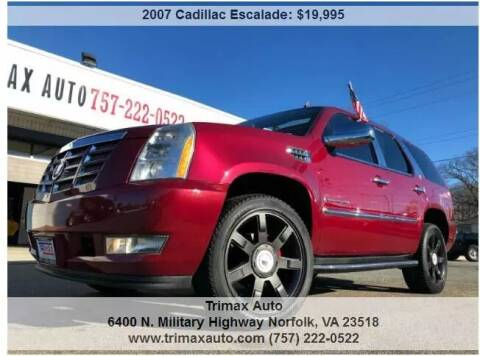 2007 Cadillac Escalade for sale at Trimax Auto Group in Norfolk VA