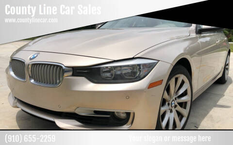 2013 BMW 3 Series for sale at County Line Car Sales Inc. in Delco NC