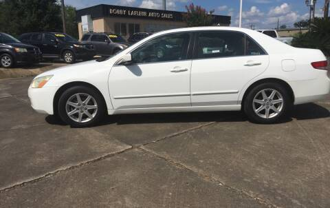 2003 Honda Accord for sale at Bobby Lafleur Auto Sales in Lake Charles LA
