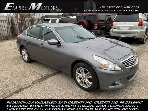 2011 Infiniti G25 Sedan for sale at Empire Motors LTD in Cleveland OH