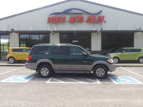 2002 Toyota Sequoia for sale at DOUG'S AUTO SALES INC in Pleasant View TN