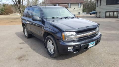 2003 Chevrolet TrailBlazer for sale at Shores Auto in Lakeland Shores MN