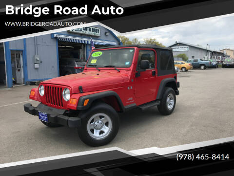 2004 Jeep Wrangler for sale at Bridge Road Auto in Salisbury MA