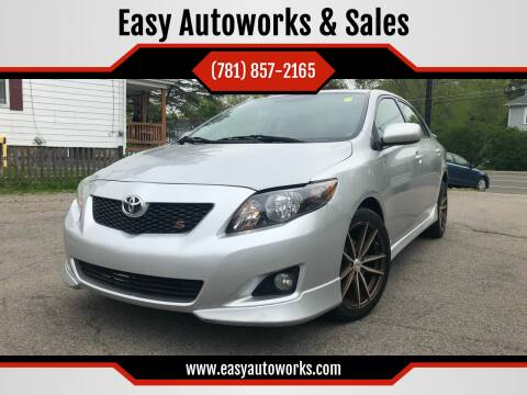 2010 Toyota Corolla for sale at Easy Autoworks & Sales in Whitman MA