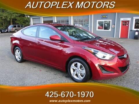 2014 Hyundai Elantra for sale at Autoplex Motors in Lynnwood WA