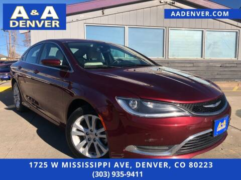 2015 Chrysler 200 for sale at A & A AUTO LLC in Denver CO