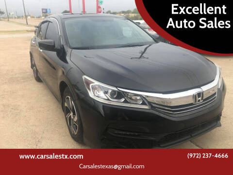 2016 Honda Accord for sale at Excellent Auto Sales in Grand Prairie TX