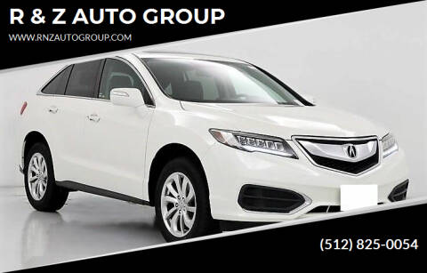 2017 Acura RDX for sale at R & Z AUTO GROUP in Austin TX