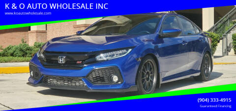 2017 Honda Civic for sale at K & O AUTO WHOLESALE INC in Jacksonville FL