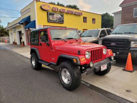 2001 Jeep Wrangler for sale at Bel Air Auto Sales in Milford CT