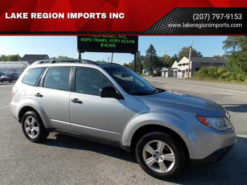 2013 Subaru Forester for sale at LAKE REGION IMPORTS INC in Westbrook ME