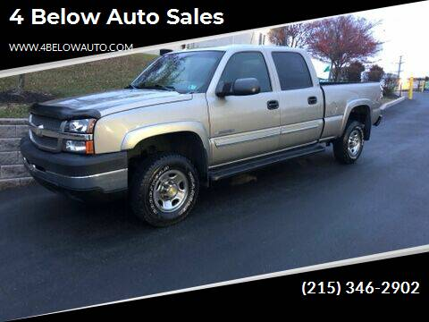 2003 Chevrolet Silverado 2500HD for sale at 4 Below Auto Sales in Willow Grove PA