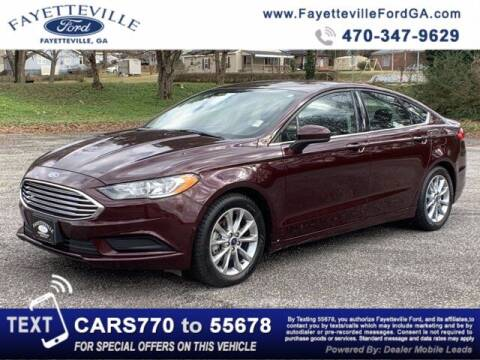 2017 Ford Fusion for sale at FAYETTEVILLEFORDFLEETSALES.COM in Fayetteville GA