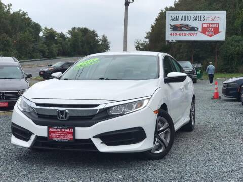 2018 Honda Civic for sale at A&M Auto Sales in Edgewood MD