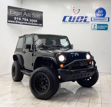 2013 Jeep Wrangler for sale at Elegant Auto Sales in Rancho Cordova CA