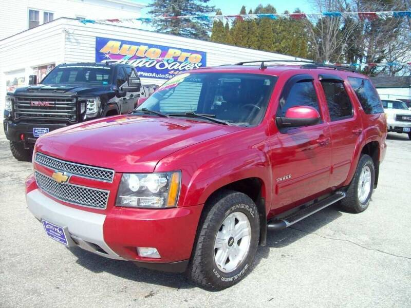 2012 Chevrolet Tahoe for sale at Auto Pro Auto Sales in Lewiston ME