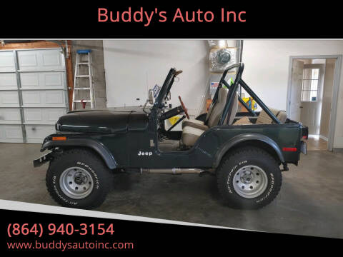 1979 Jeep CJ-5 for sale at Buddy's Auto Inc in Pendleton SC